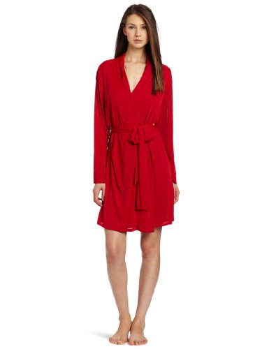 Natori Women's Negligee Basic Robe, Red Garnet, Medium
