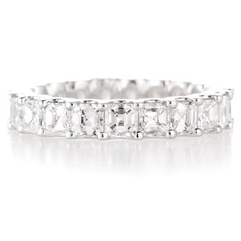 Diamond & 18k White Gold Etenity Wedding Band