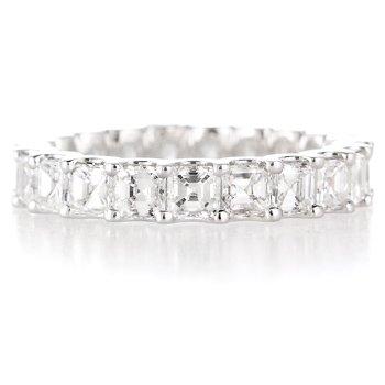 Diamond & 18k White Gold Etenity Wedding Band