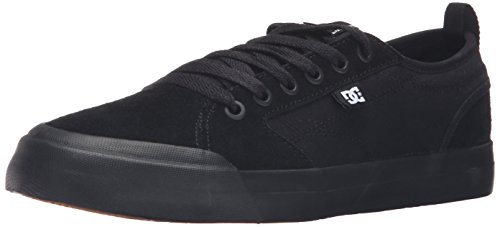 DC Men's Evan Smith Skate Shoe, Black/Black/Gum, 7 M US