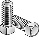 1/2-13x1 1/4 Square Head Set Screw Cup Pt UNC Steel / Plain Finish, Pack of 10
