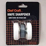 Chef Craft Roller Style Knife Sharpener Compact, Roller Style Carded