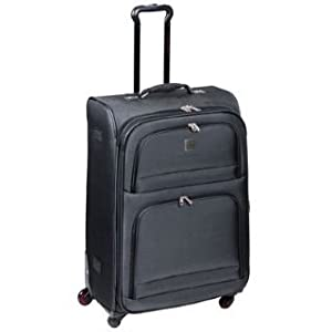 Firetrap 4 Wheeled Suitcase Blackred 18in45cm