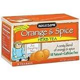 Bigelow Orange & Spice Herbal Tea - 20 Teabags - Pack of 6