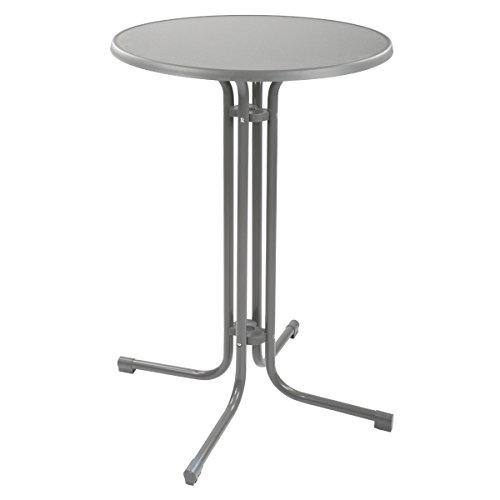 Torrex-Stehtisch-aus-Stahl-Hhe-110--70-cm-in-Schwarz-Wei-oder-Grau-Bistrotisch-Bartisch-Gartentisch-Stahltisch-Klapptisch-Biertisch-Grau