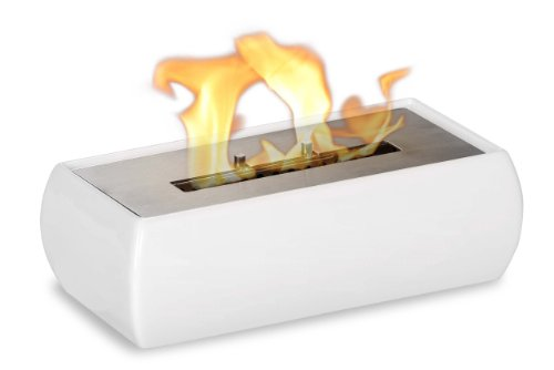 Lia White - Tabletop Ceramic Ventless Ethanol Fireplace image B00ESKXAX2.jpg