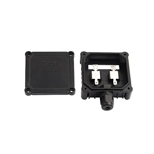 Solar Junction Box PV Connector with 1 Diode for Solar Panel 30W-80W 6A (80w Solar Panel compare prices)