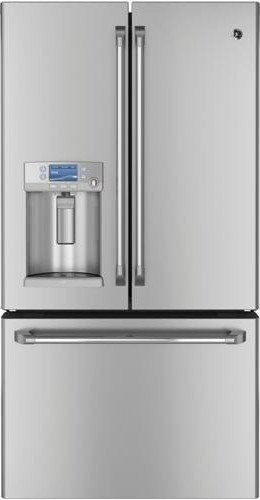 GE CYE23TSDSS Cafe 23.1 Cu. Ft. Stainless Steel Counter Depth French Door Refrigerator - Energy Star