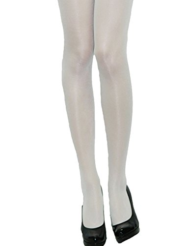 Yummy Bee Women's Opaque Tights Medium White