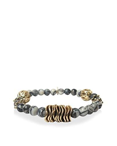 Marlyn Schiff Black Agate Beaded Stretch Bracelet