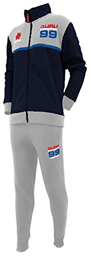 pigiama tuta in felpa uomo GURU full zip art.2785 new collection (M, blu)