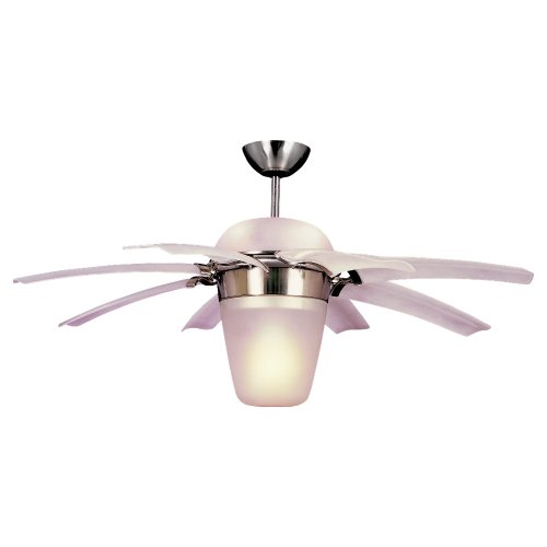 Monte Carlo 8ATR44BSD-L Airlift 44-Inch 8-Blade Ceiling Fan, Brushed Steel Finish