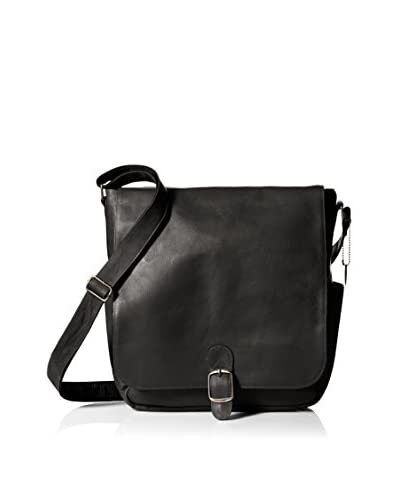 David King Men's Vertical Messenger, Black