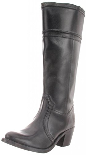 FRYE Women's Jane 14L Boot,Black Antique Pull Up,7.5 M US
