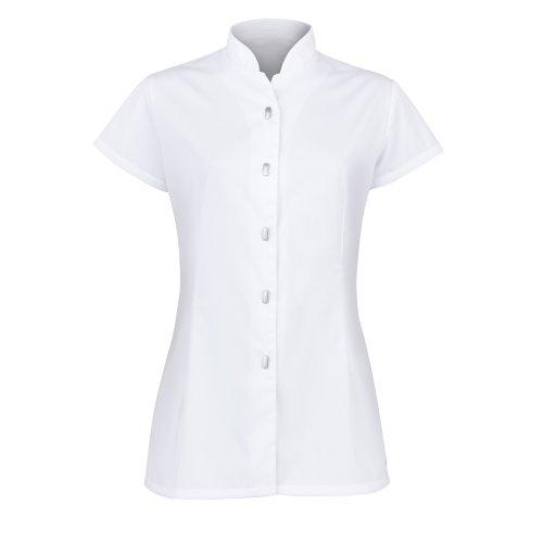 Alexandra - Camicetta a Tunica con abbottonatura frontale - Abbigliamento da lavoro - Donna (44) (Bianco)