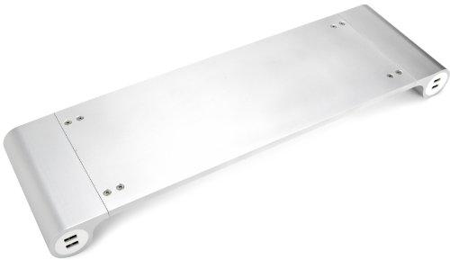 Quirky SpaceBar Tischständer für Apple iMac /Monitor silber