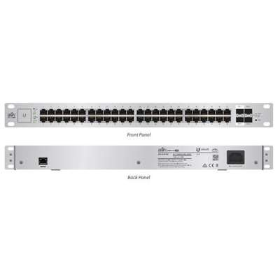 Ubiquiti Networks US-48-750W UniFi Managed PoE+ Gigabit 48 RJ45 Port 750W Switch - 48 Ports - Manageable - 48 x POE+ - 4 x Expansion Slots - 10/100/1000Base-T, 1000Base-X, 10GBase-X - Rack-mountable