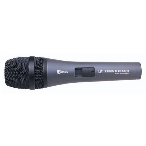 Sennheiser E 845 S Super-Cardioid Dynamic Microphone with Noiseless and Lockable On/Off Switch