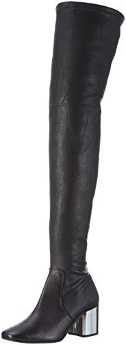 CarvelaWizard Np - Stivali sopra il ginocchio con imbottitura leggera Donna , Nero (Nero (nero)), 40