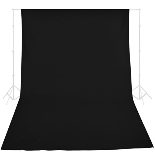AW Black 10x20' Video Backdrop 100% Cotton Muslin Background Pro Photo Studio Portrait