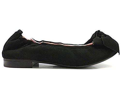 Scarpe donna LE BABE 37,5 ballerine nero camoscio AT243