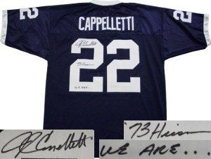 John Cappelletti Penn State Nittany Lions NCAA Hand Signed Authentic Style Blue... by All+About+Autographs