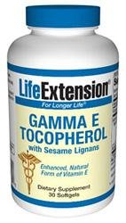Life Extension Gamma E Tocopherol With Samelignans - 30 - Softgel, 30-Count
