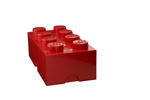 Lego Storage Brick 8, Red front-873259