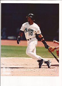 Gary Sheffield unsigned 8 X 10 photo. Florida Marlins by Bud