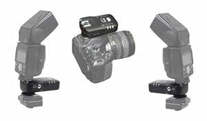 Pixel KING TTL Funk-Blitzauslöser Set für 2 Blitze (2x Empfänger) bis zu 100m für Nikon Blitzgeräte und Nikon DSLR