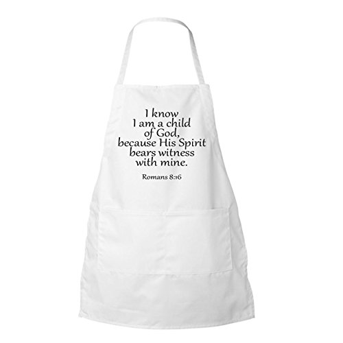 I Know I Am A Child Of God Because His Spirit Bears Witness.. BBQ Apron,White In Color