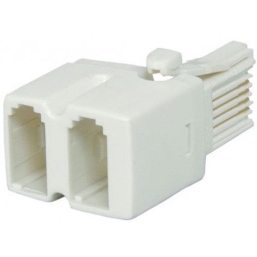 bulk-hardware-bh02679-telephone-adaptor-2-way-pack-of-2