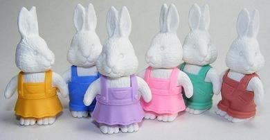 White Rabbit - IWAKO Japanese Eraser. 60 Count. 38059