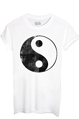 T-Shirt TAO YOGA RELAX - MUSIC by iMage Dress Your Style - Uomo-XL-BIANCA