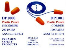 Best Buy! Pyramex Disposable Corded Earplugs 100 Per Box