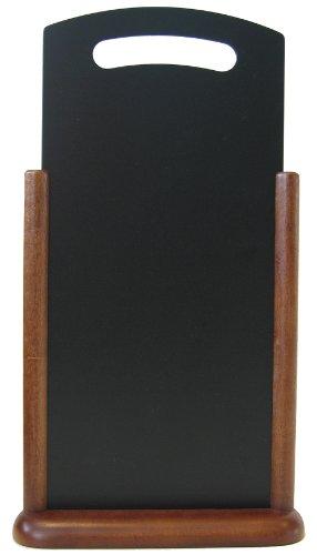 Tischaufsteller mit Griff dunkelbraun