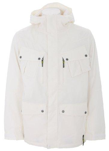Burton GMP Traction Snowboard Jacket Bright White Mens Sz L