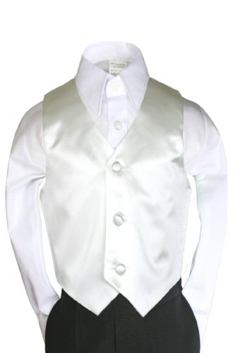 Unotux Boys Satin Ivory Vest from Baby to Teen