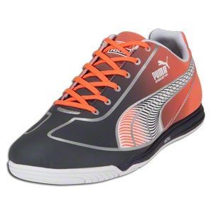 PUMA Speed Star Fade Indoor Soccer Shoes (New Navy/Fluo Orange/PUMA Silver)