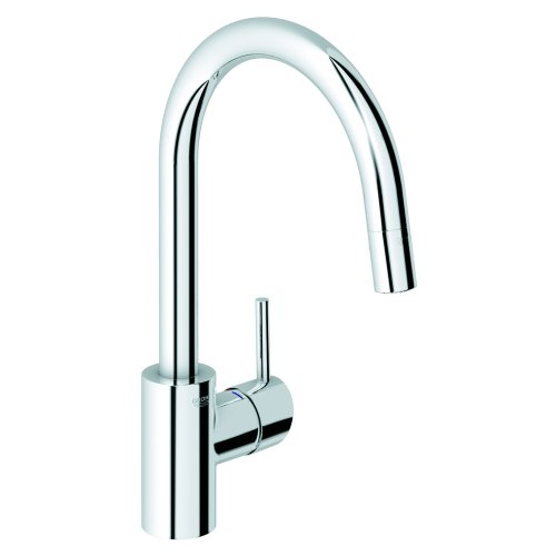 Grohe 32 665 000 Concetto Dual Spray Pull-Out Kitchen Faucet, StarLight Chrome