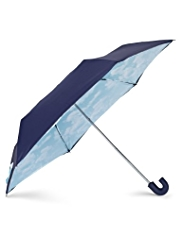 M&S Collection Clouds Print Crook Handle Umbrella