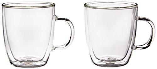 Bodum Bistro 2-Piece Double Wall Mug, 10-Ounce, Clear