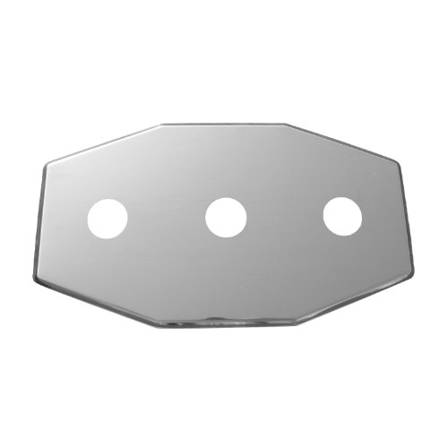 LASCO 03-1654 Smitty Plate, Three Hole, Used to Cover Shower Wall Tile, Stainless Steel image