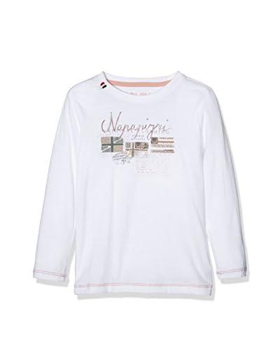Napapijri Camiseta Manga Larga Blanco