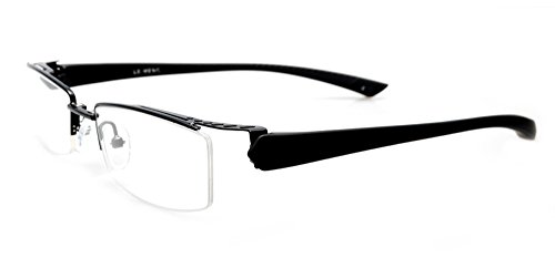 Rimless Glasses With Magnetic Sunglass : Agstum Mens Half Rimless Myopia Glasses Frame Magnetic ...