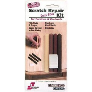 Staples 801 Decto Stick Blendable Scratch Repair Kit Wood Fill