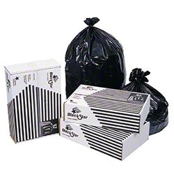 Zoom Supply Pitt B74830XK Trash Bags, Industrial-Strength Black Garbage Bags, Fit Up to 45 Gallon Trash Containers, Keeps Crud Where You Want -- Not Annoying Mess All Over Floor