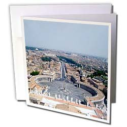 Vacation Spots - The Vatican Square - Greeting Cards-6 Greeting Cards with envelopes