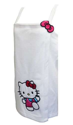 Hello Kitty Satin Accent White Shower Wrap For Women (X-Large) back-1016270