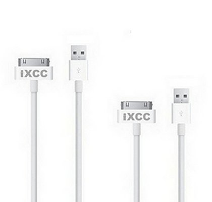 2 pcs White EXTRA LONG USB SYNC Cable Cord Charger For Apple iPod, iPhone, iPad, iPad 2 and the New iPad 3 (10 feet)